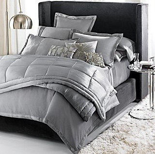 Elegant Aren ut these sets gorgeous I um partial to the Gray Faux Silk Donna Karan Black Collection set directly above Reg for this Queen Duvet Cover