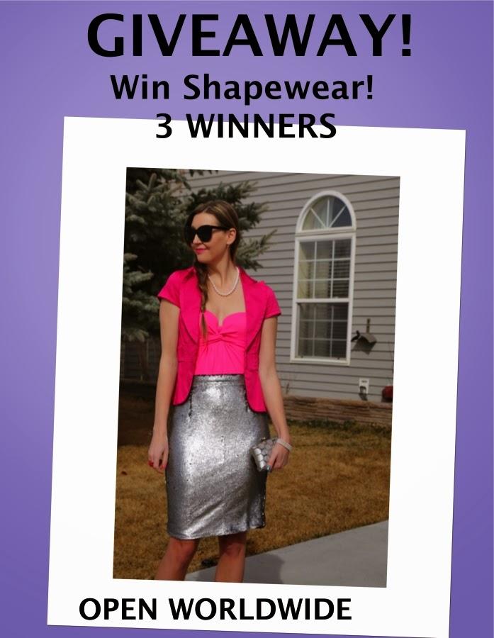contest. win shape wear. vedette bathing suit shapewear swimwear worn as outerwear