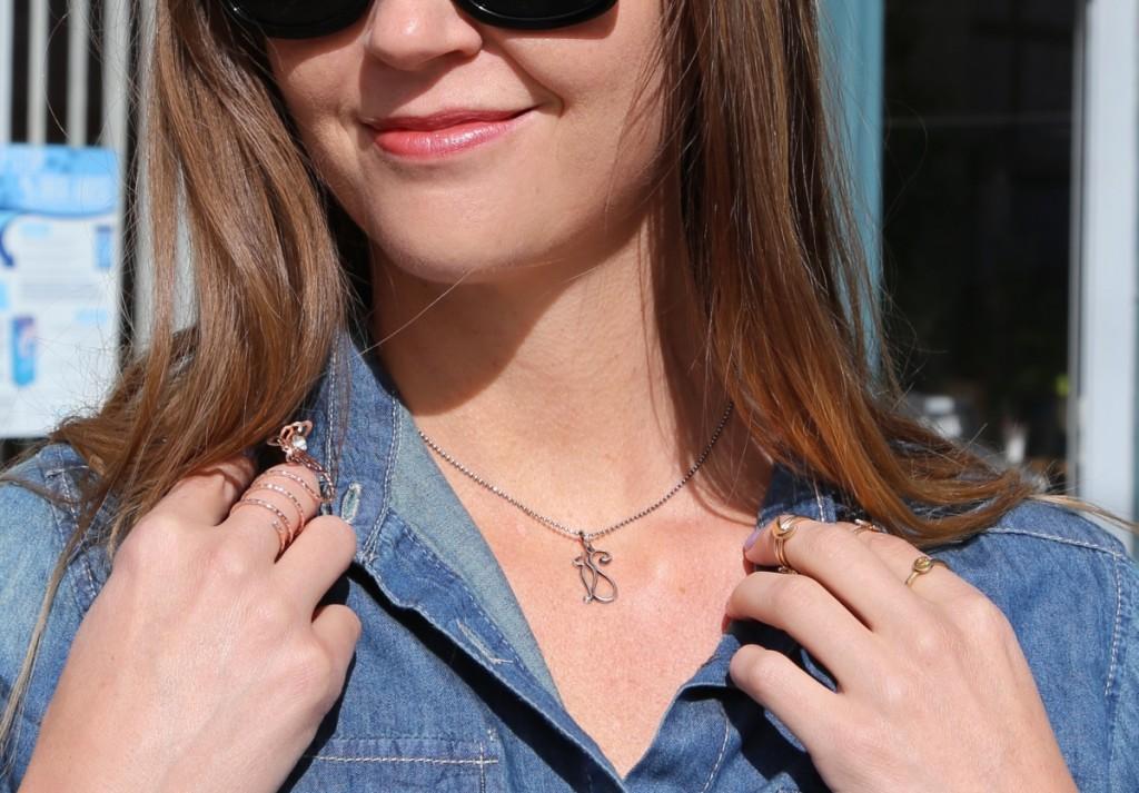 Sara Pocius Cat Charm Pendant Necklace
