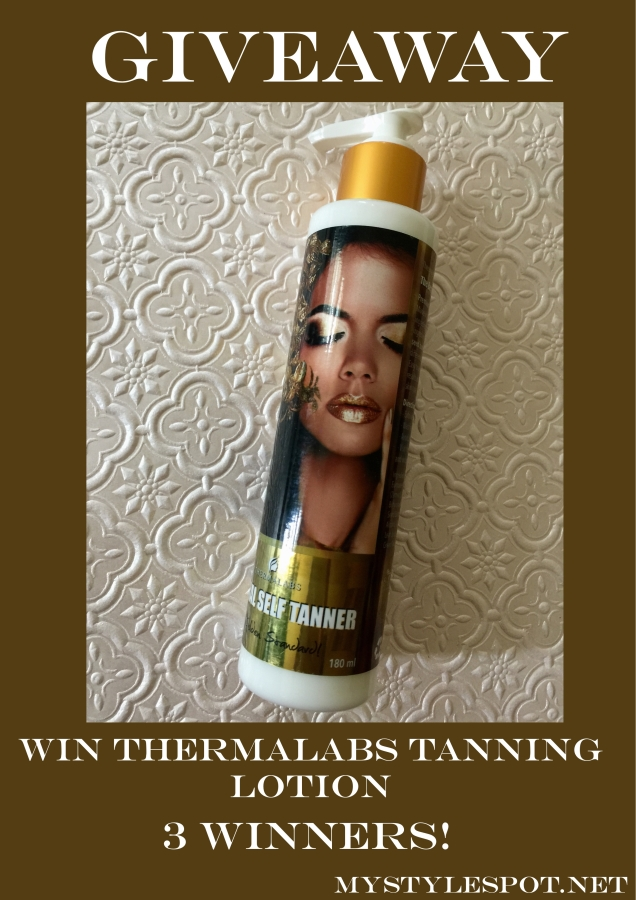 Win Thermalabs Gold Standard Tanning Lotion -Giveaway