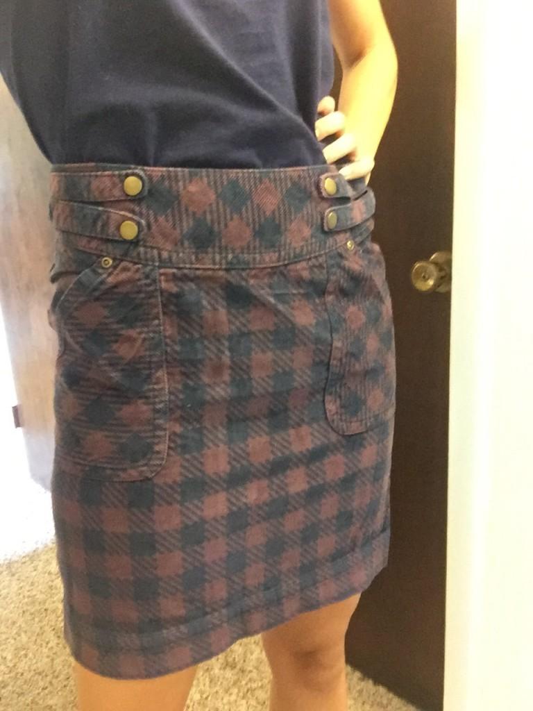 Plaid print skirt Amazon fashion