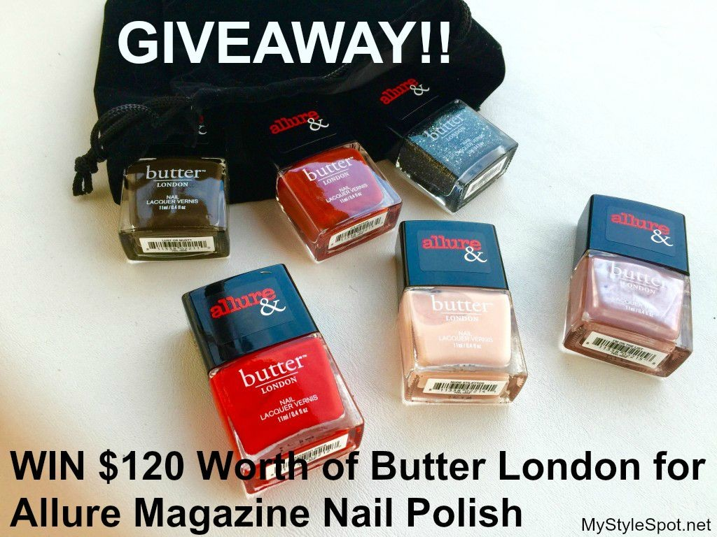Win $120 worth of butter london for allure magazine nail polish