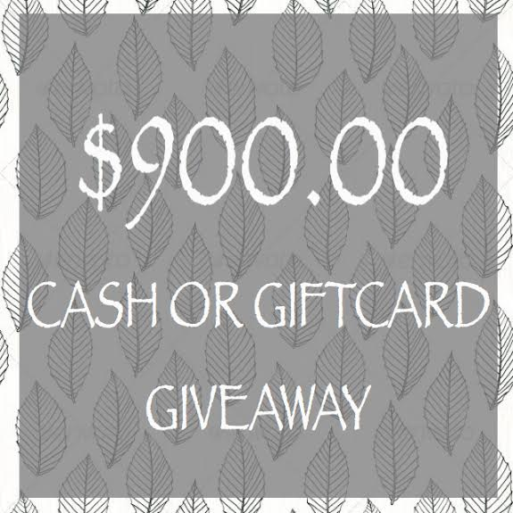 Win $900 Cash Giveaway