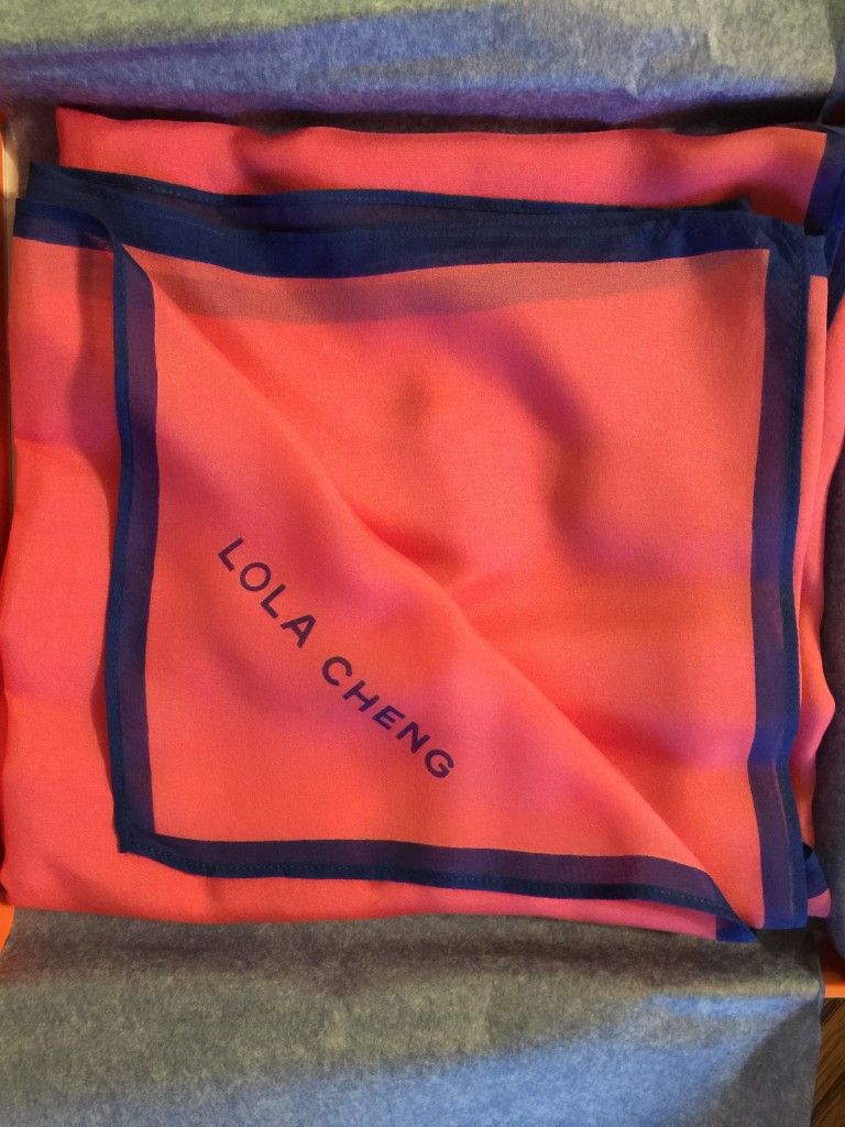 lola cheng silk scarf in pink
