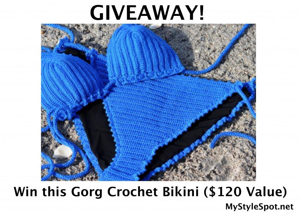 Win a crochet blue bikini