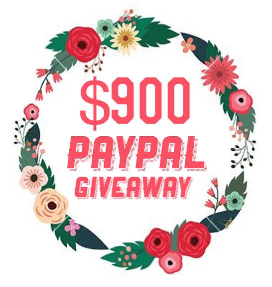 $900 paypal giveaway