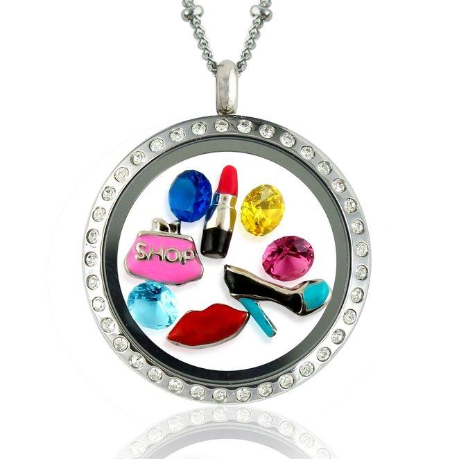 fashion charm locket necklace