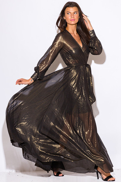 black-gold-metallic-chiffon-blouson-sleeve-faux-wrap-formal-evening-party-maxi-dress__0_grande