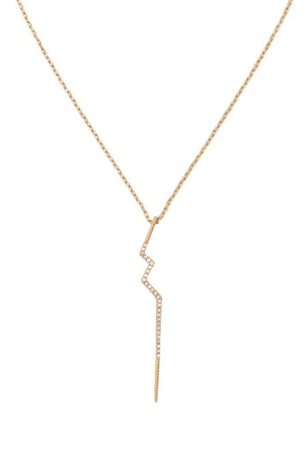 Stella and dot gold lightning bolt necklace $49