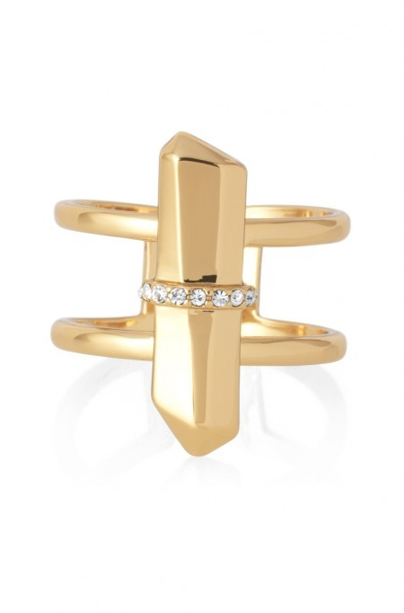 stella and dot gold rebel ring $39