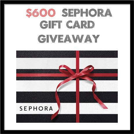 Win a $600 sephora gift card