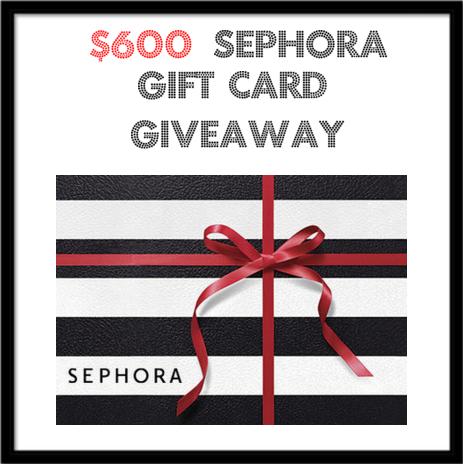 Win a $600 sephora gift card
