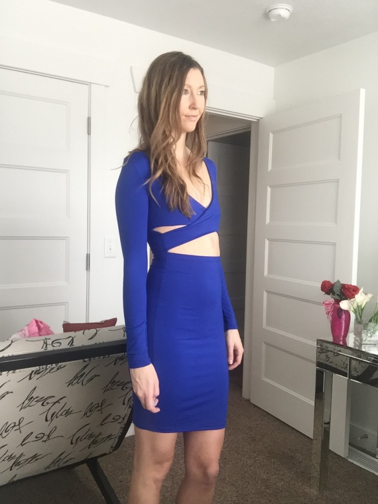 cut out blue dress 3