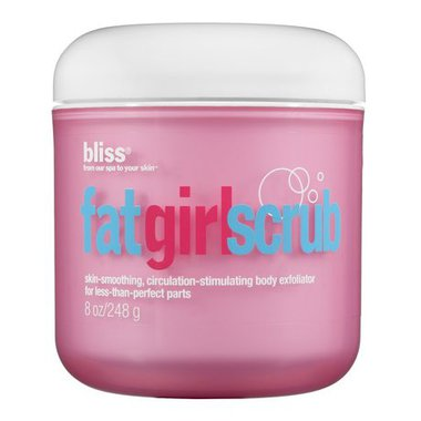 bliss fat girl body scrub