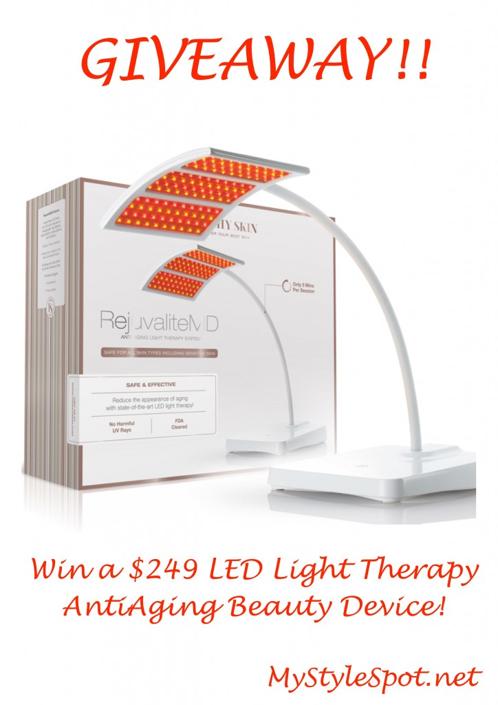 win a rejuvalitemd LED light therapy anti aging system
