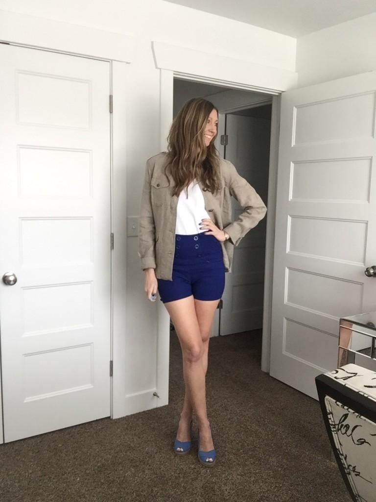 HDE high waisted blue shorts