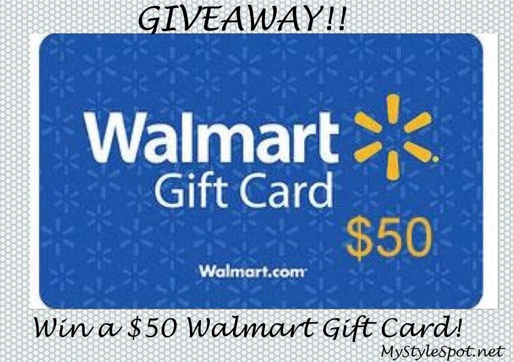 Win a $50 Walmart gift card Giveaway
