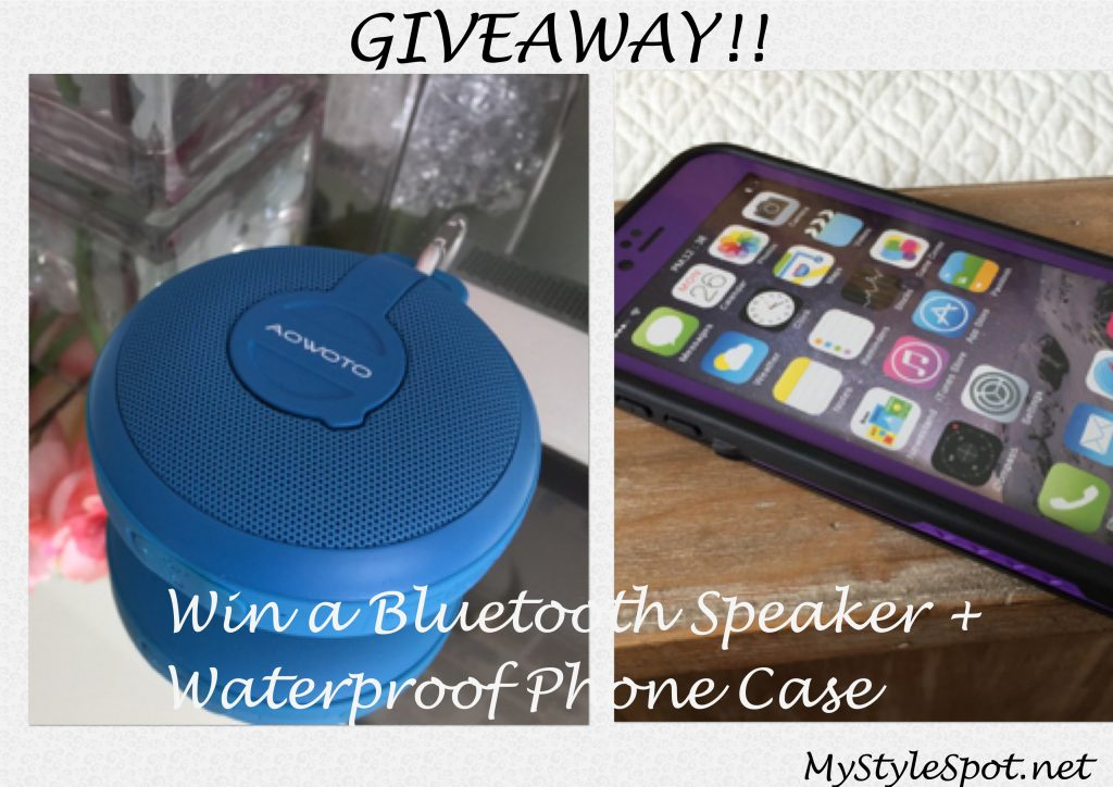 aowoto bluetooth speaker and waterproof cell phone case giveaway