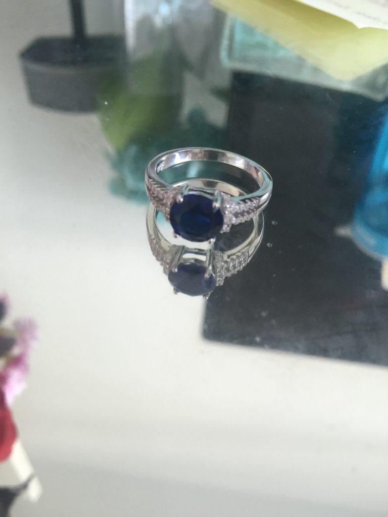 blue gemstone ring