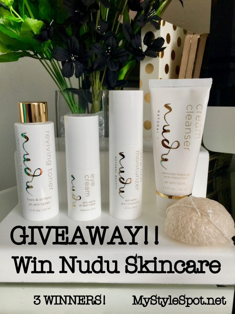 win nudu skincare- 3 winners!