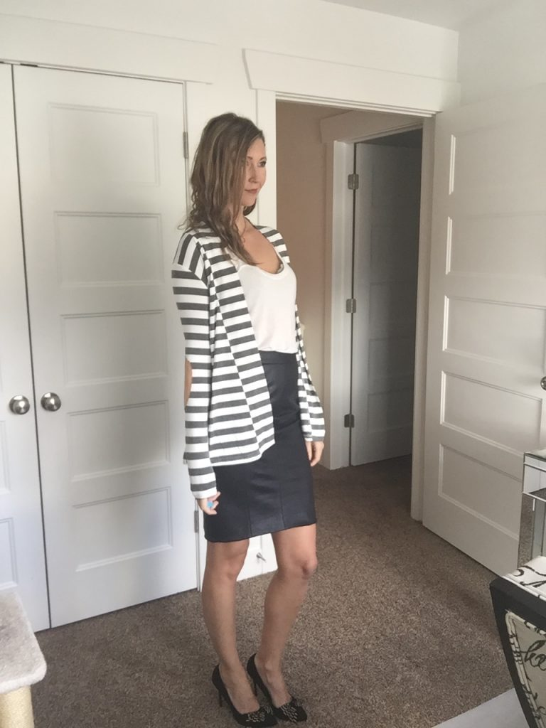 win a cute Striped blazer jacket