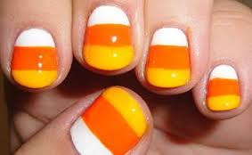 candy corn nail art tutorial for halloween