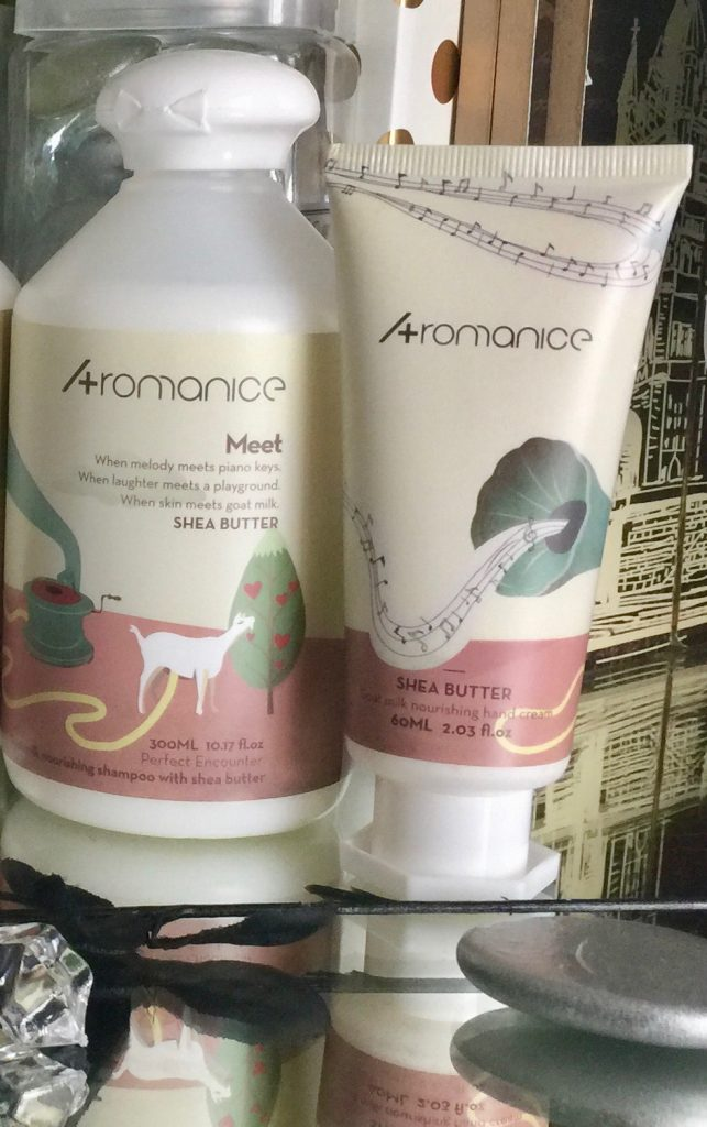 aromanice plus goat milk and shea butter bath and body products