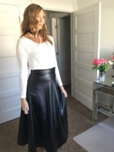 White and Black, Sweater and Leather