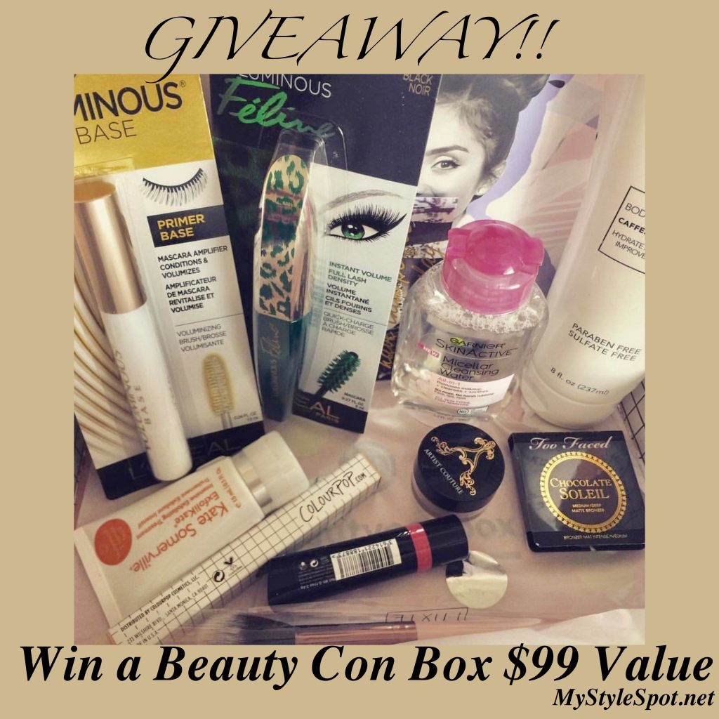 Win over $99 in Cosmetics in the Beauty Con Box Giveaway