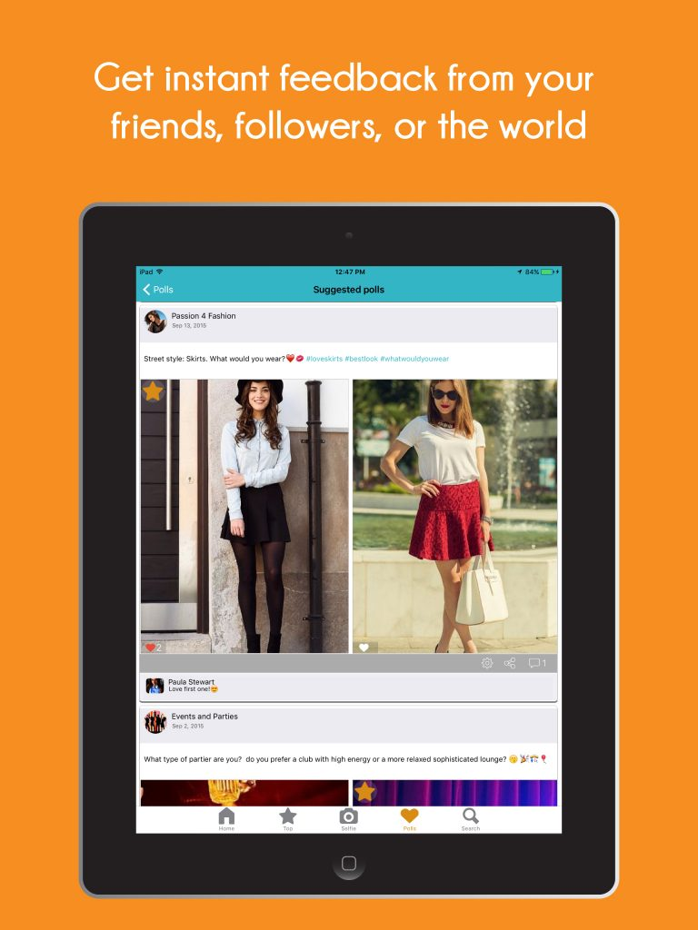 selfieMark app polls for fashion and beauty bloggers
