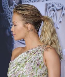 Hair #howto get Rita Ora's Flirty, undone  Ponytail