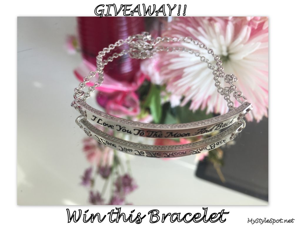 """Win an """"I love you to the moon and back"""" 925 silver bracelet"""