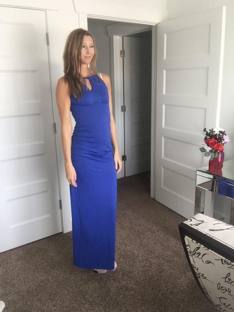 Gorgeous Blue Key Hole Dress