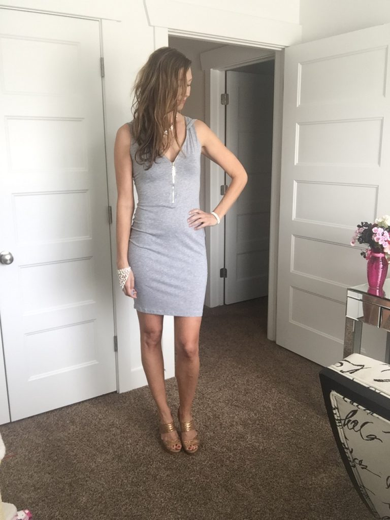 Sexy Gray Hoodie BodyCon Dress