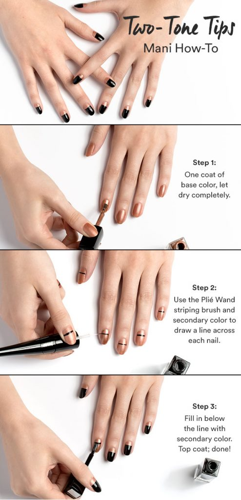 STYLE HOW-TO Two-toned Tips Manicure