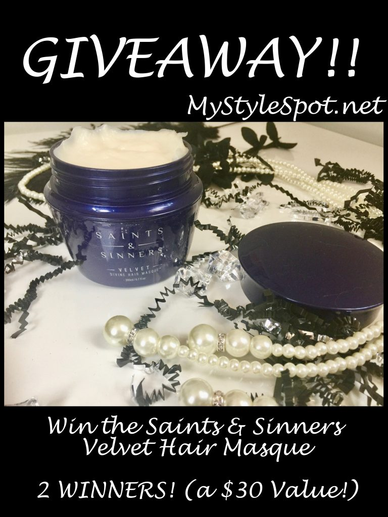 Win Saints and Sinners Velvet hair masque - 2 winners!