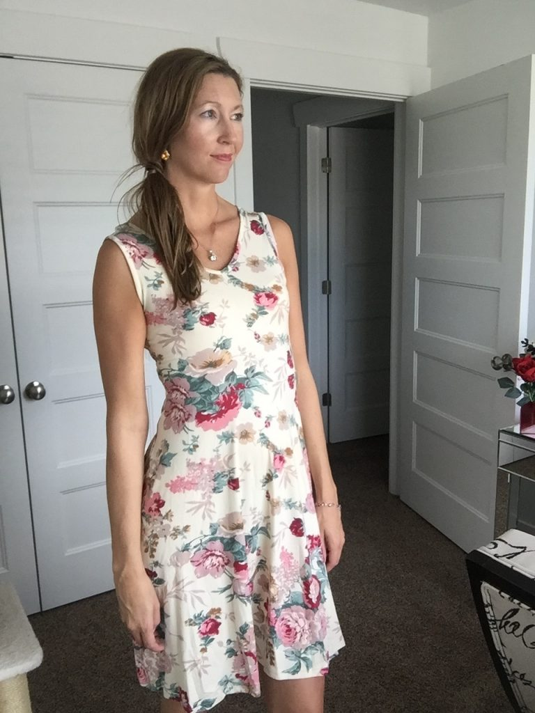 Chic Floral A Line Sleeveless Dress