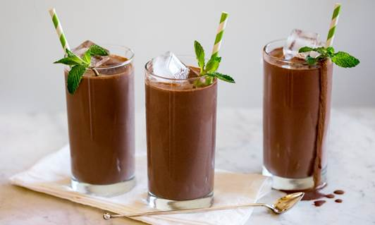 Spiced and Iced Chocolate drink