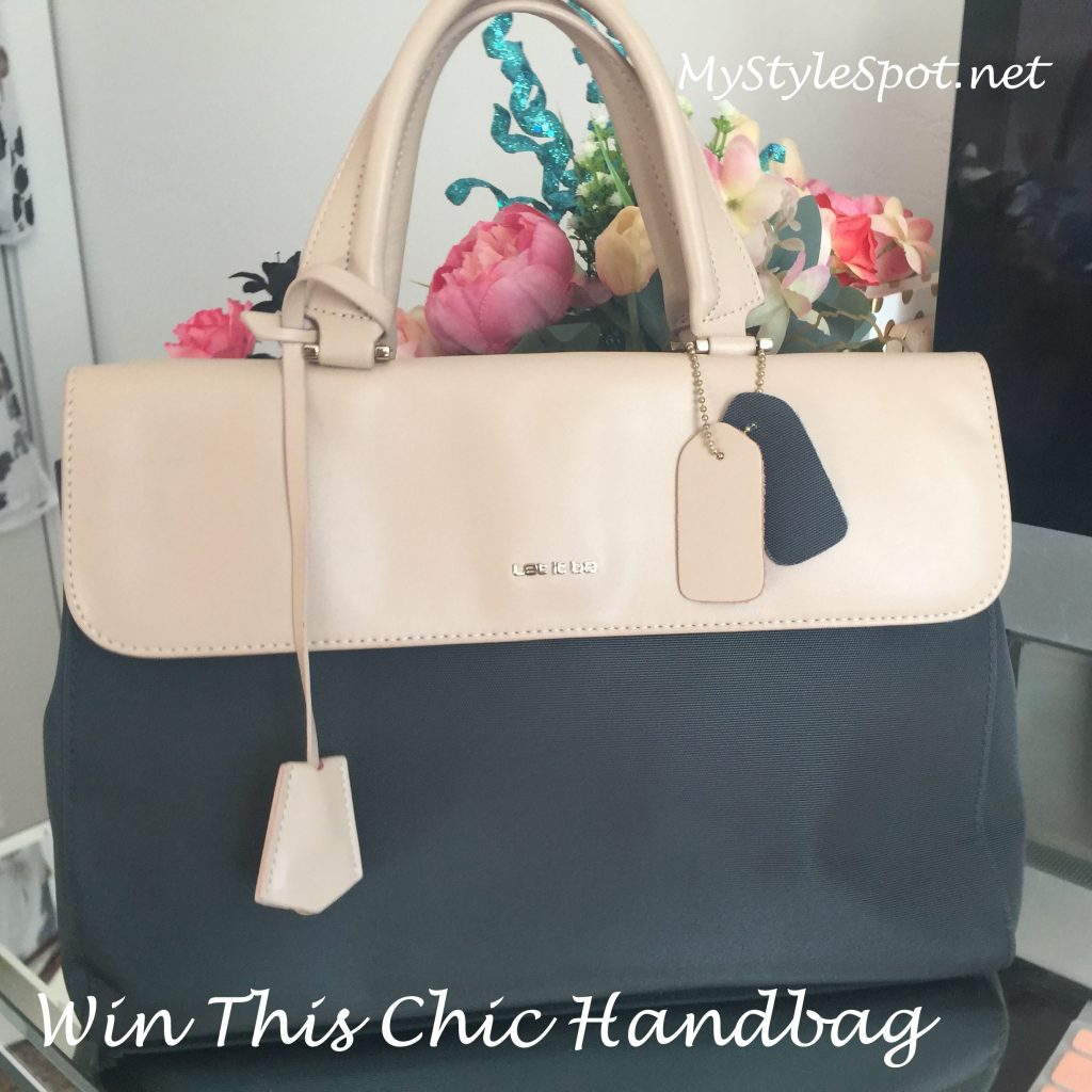 GIVEAWAY: Win a Gorgeous Canvas + Faux Leather Handbag