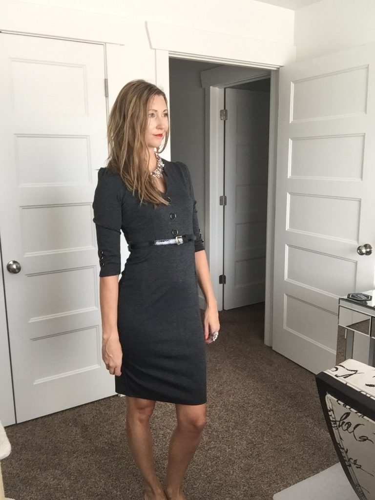Chic Black Sheath Dress