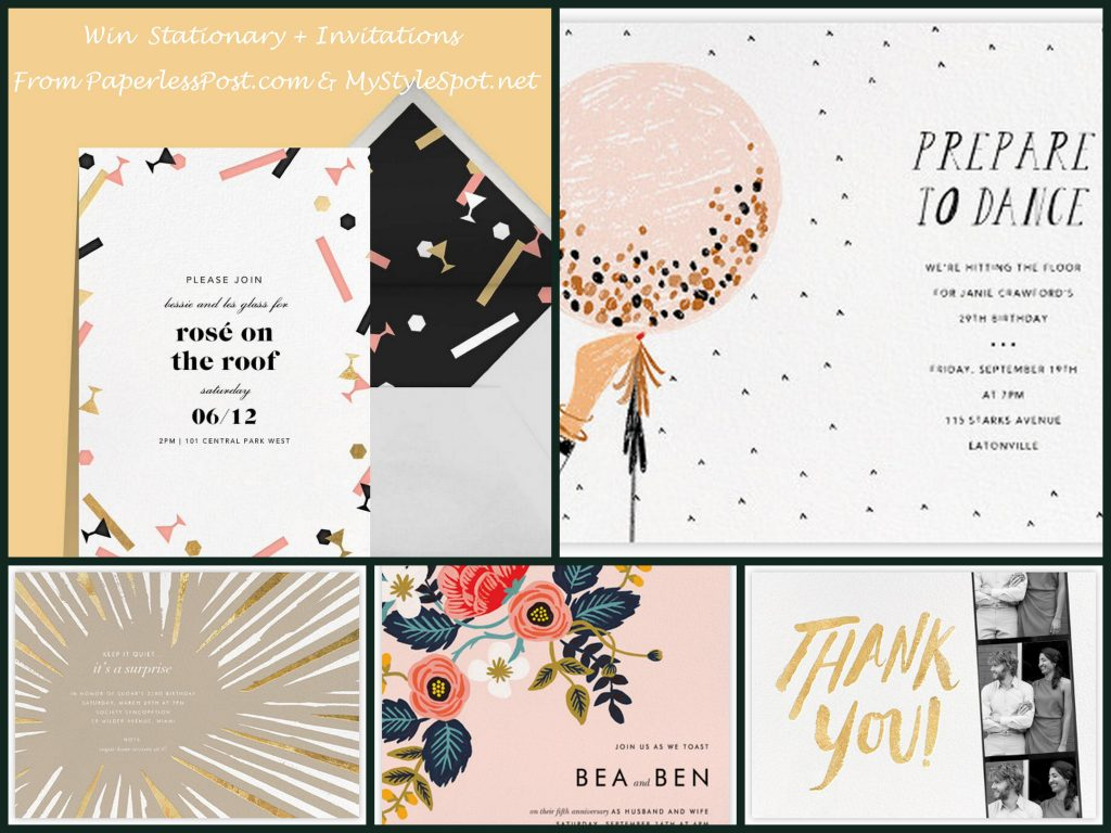 GIVEAWAY: Win Beautifully Designed Stationary & Invitations from Paperless Post