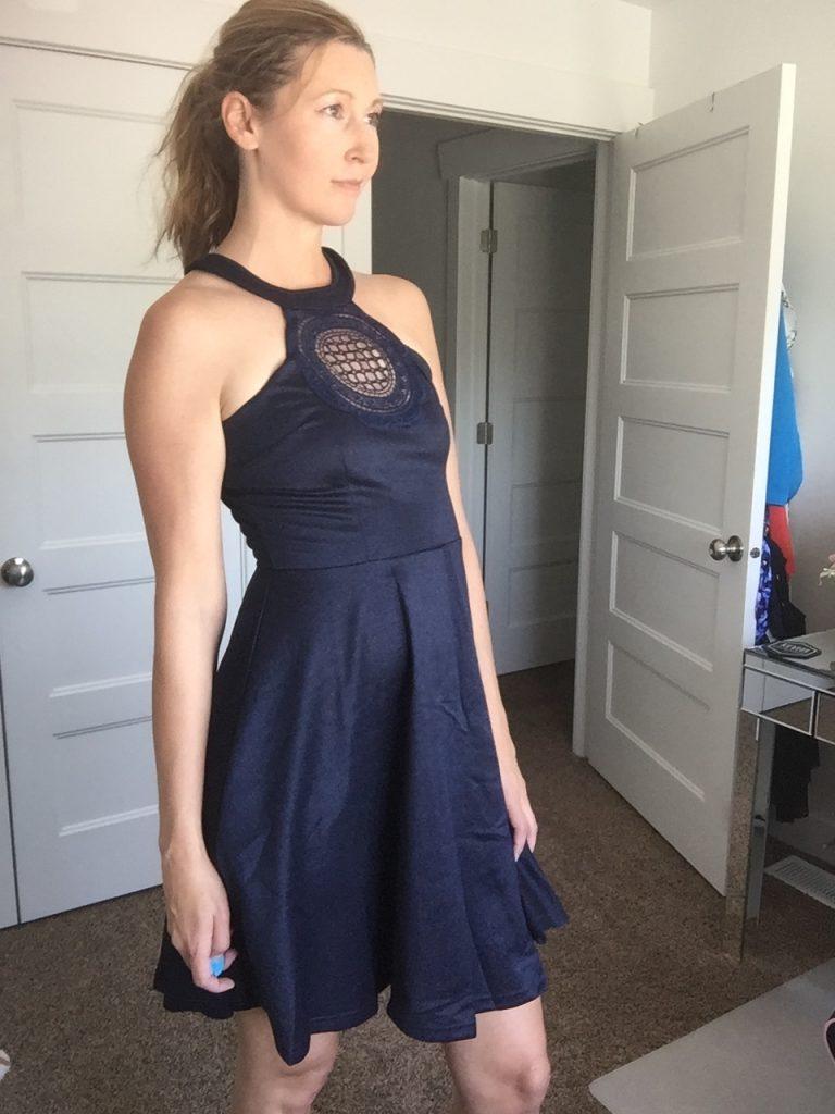 Chic Denim Flare Dress