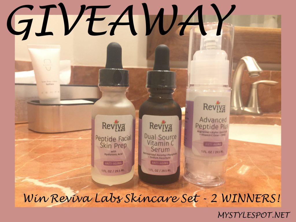 Giveaway: Win a Reviva Labs skincare set (an $84% Value) -2 WINNERS + 45 other prizes!