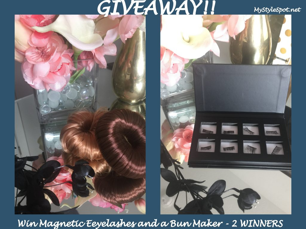 GIVEAWAY: Win a Set of Magnetic Lashes + A Bun Maker for a Super Easy Updo - 2 WINNERS!