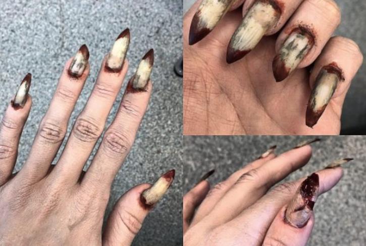 Fun Halloween Creepy DIY Stiletto Nail Art Tutorial - MyStyleSpot
