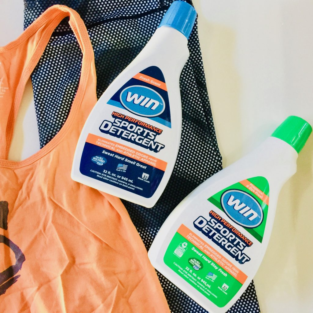 WIN Detergent gets the smell out of workout clothes