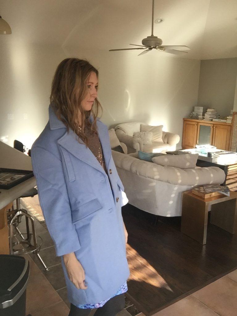 Chic Oversized Blue Coat