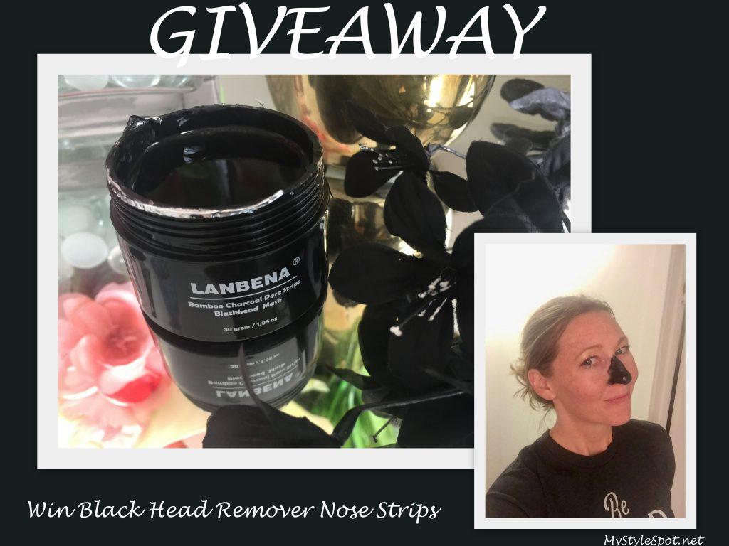 Lanbena Bamboo Charcoal Blackhead Remover Nose Strip Mask + GIVEAWAY