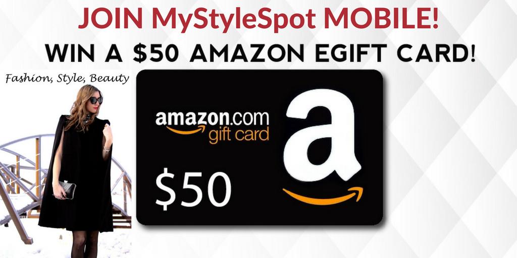 GIVEAWAY: Win a $50 Amazon Gift Card - 6 WINNERS