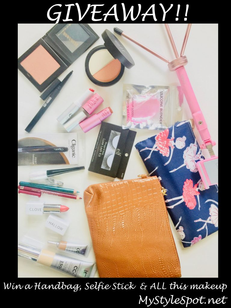 GIVEAWAY: Win a Handbag, Selfie Stick & A TON of Makeup